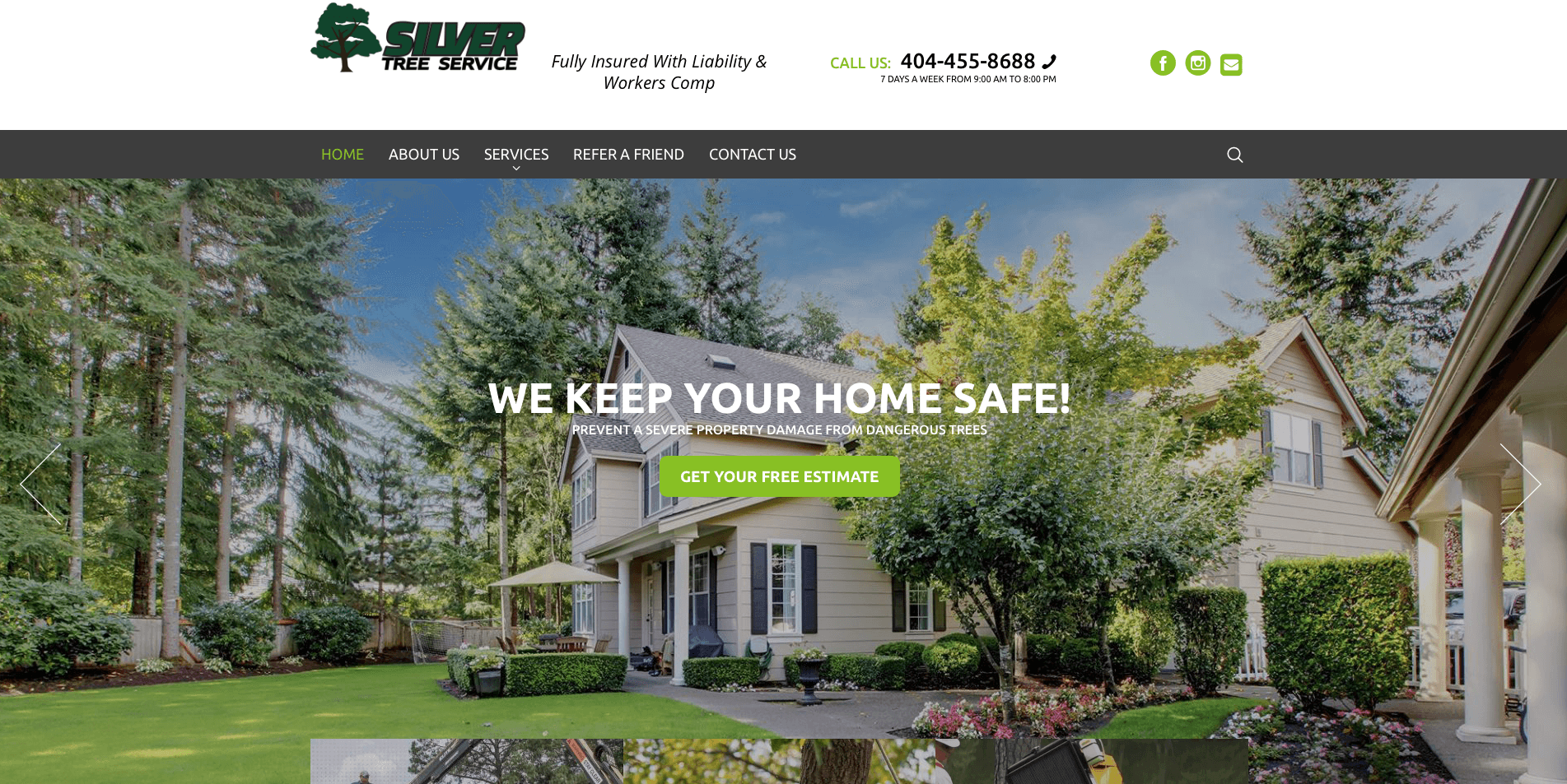 Besavant Web Design Silver Tree Service Atlanta
