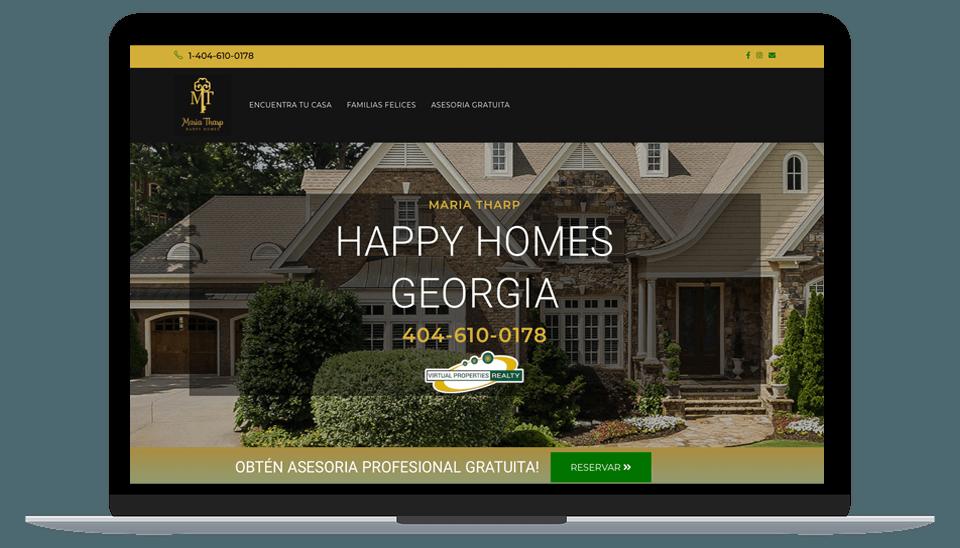 Realtor Atlanta Maria Tharp Web Design Besavant