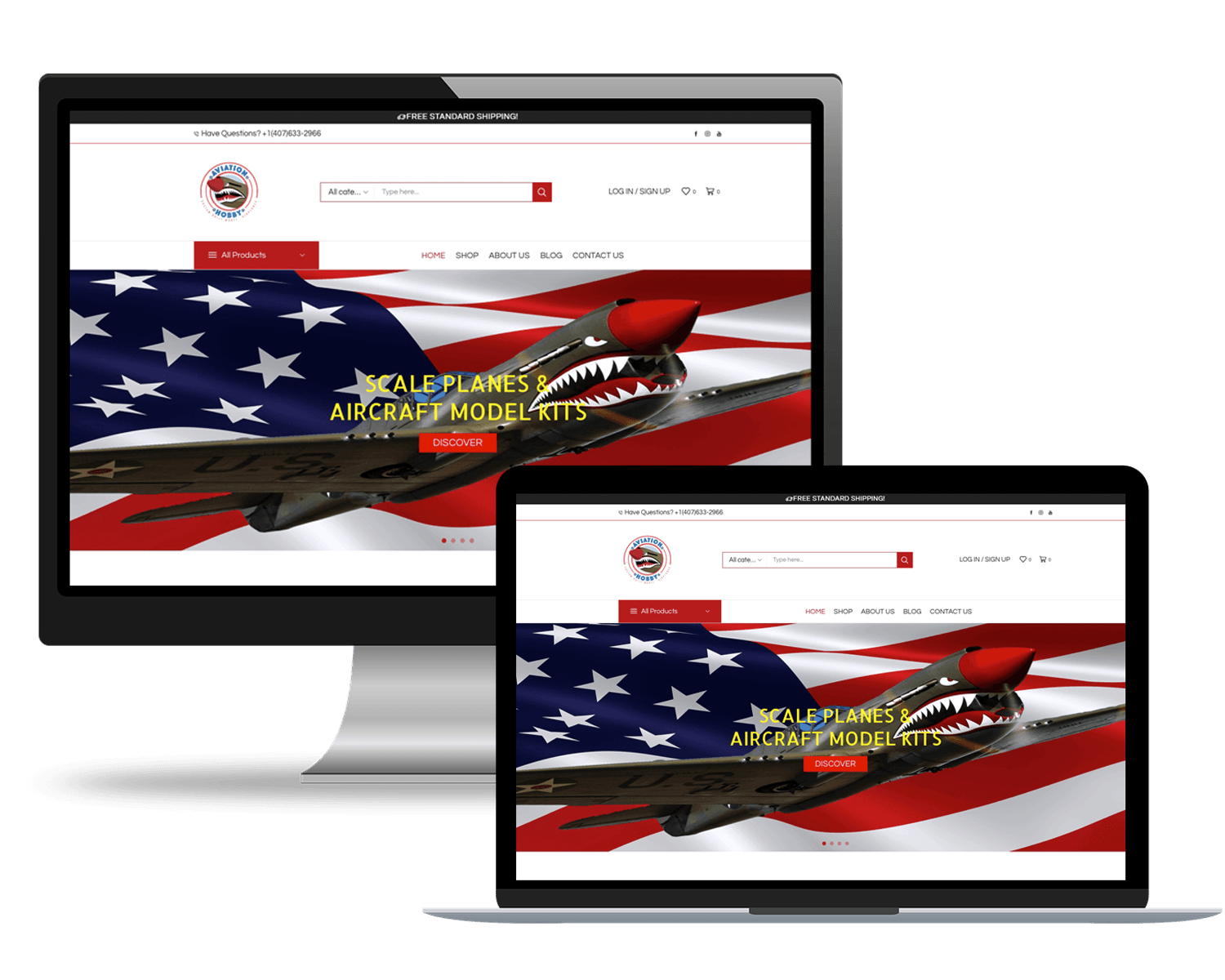 Online Store Aviation Hobby
